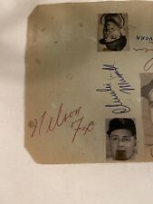 Nelson Fox Signed Autograph Book Page With Others JSA COA