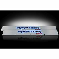 RECON 264421FD 2009-2014 Ford Raptor Aluminum-Blue Emblems Illuminated door sill