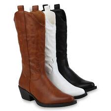 Damen Stiefel Cowboystiefel Stickereien Freizeit Western 832439 Schuhe