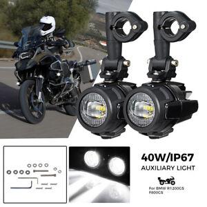 40W Universal Motorrad LED Nebelleuchte Zusatzscheinwerfer für BMW R1200GS F800