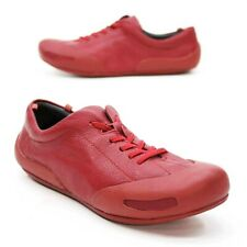 Camper Ladies 40 (10) Red Leather Bumper-toe Driving Athletic Fashion Sneakers