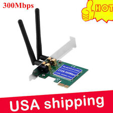 300Mbps Wireless Wifi LAN Network 2 Antenna PCI Adapter Card 802.11b/g/n For PC