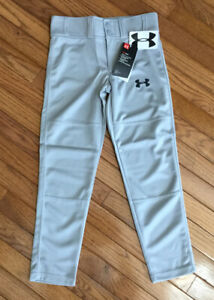 NEW Under Armour Boys Gray Clean Up Utility Baseball Pants Sz Youth Small