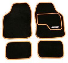 Full Black Carpet Car Floor Mats With Orange Boarder For Opel Astra Corsa Vectra