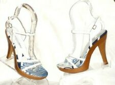 D&G DOLCE & GABBANA STRAPPY PATENT SHOES PLATFORMS 37