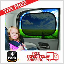 "SAMRO Car Window Shade - (4 Pack) - 19""x 12"" Cling Sunshade For Car Windows"