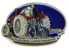 Tractor Belt Buckle 3D Ploughing Farmer Agriculture Authentic Dragon Designs