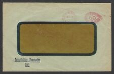 Germany Inflation October 1921 60m meter frank cover