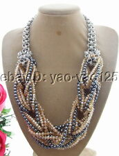 "Crystal Chain Necklace Q090209 20"" Hematite"