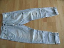 PLEASE coole helle 7/8 used look Boyfriend Jeans Gr. S w. NEU  MDS2