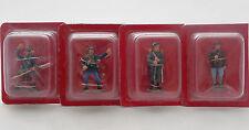Lot 4 Figurines Hachette Guerre Mondiale 1914 France Fantassin Fusilier Marin