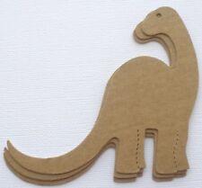 "{4} Brontosaurus - Dinosaur Bare Unfinished Chipboard Die Cuts 4 1/8"" Tall"