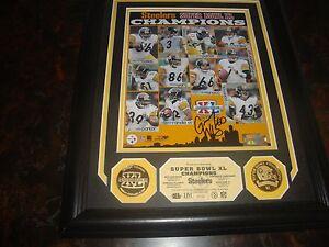 Pittsburgh Steelers Greg Warren Auto. -Super Bowl XL-Highland Mint- Plaque -COA