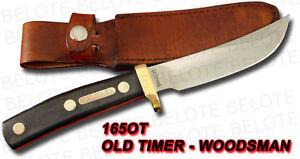 "Schrade Old Timer 9 1/2"" Woodsman Delrin + Sheath 165OT"