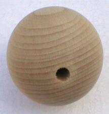 Holzkugeln Ø 25 mm Kugel mit kompletter Bohrung Buche natur Rohholzkugeln