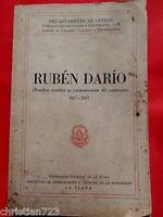 RUBEN DARIO ESTUDIOS CENTENARIO 1867 - 1967 UNIVERSIDAD LA PLATA ARGENTINA XRARE