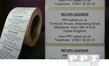 1000 Personalised Return Address Sticky Labels Stickers On Roll 70x40 Ra 03 Roll