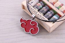 Naruto Uchiha Itachi Necklace Akatsuki Logo Red Cloud Cosplay Necklace Pendant