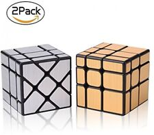 Roxenda Speed Cube Set, Magic Cube Set Of Gold Mirror S Cube And Silver Cube,