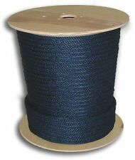 "Anchor Rope Dock Line Black 5/8"" CUT 2 LENGTH BRAIDED NYLON NAVY MADE IN USA"