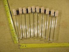 10 x Reagenzglas + mit Korken Rand 100 mm x 12 mm aus Glas R3+K