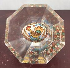 Vintage Clear Acrylic Paperweight Painted Beautiful Easter Egg/ Display