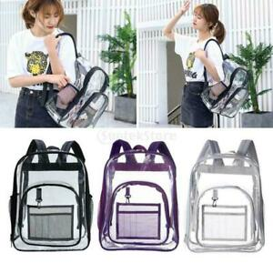 See Through Water Resistant Clear Backpack Transparent Bag for Security