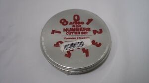 Ateco 9 Piece NUMERALS 123 0-9 Numbers Stainless Steel Cutter Set Art & Craft BN
