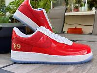 NIKE AIR FORCE 1 '07 LV8 LOW 1989 NBA Finals RED WHITE CI9882-600 NIB SZ 9.5
