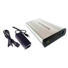 """BOX CASE ESTERNO HARD DISK SATA 3,5"""" USB 2.0 HD DRIVE HDD DISCO PORTATILE PC"""