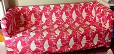 IKEA KNOPPARP Cover HOT PINK Pheasant/Peafowl Birds And Fluer De Lis Slipcover