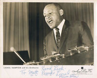 "Lionel Hampton 1908-2002 genuine autograph Vintage 1950's signed photo 8""x10"""