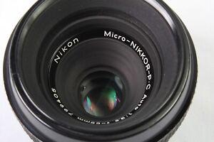 RARE!! Min. Focus 9 Inches!!! nikkor Macro 55mm f3.5 Micro PC Auto