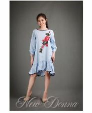 DRESS EMBROIDERED (LIGHT BLUE)