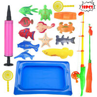Bath Toys Fishing Magnetic Toys Floating Fishing Game Bathing dolls GIFE For Kid