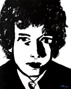 Bob Dylan Original Oil Painting on Canvas Modern French Art Neal Turner NR