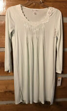 New MISS ELAINE Sofiknit knee length gown - Small - pale green