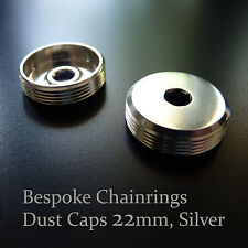Standard 22mm Silver DUST CAPS Set for modern cranks: Campy, Shimano etc.