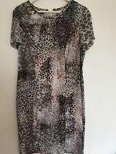 Impresionante GERRY WEBER Sedoso Vestido Talla 14 Impresión Digital