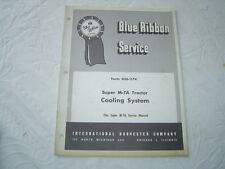 Ih International farmall super M-Ta tractor cooling system shop service manual