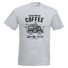 Coffee Van Mens PRINTED T-SHIRT Fresh And Hot Text Mug Cup