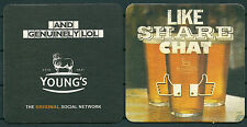 YOUNG'S PUB 1831 BEER MAT/COASTER FROM U.K. UNUSED -GV 170714