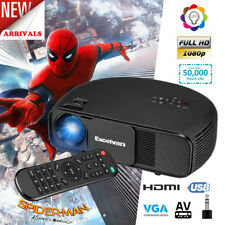 1080P HD LED Video Movie Projector 3200Lumen Home Theater Multimedia HDMI USB