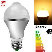 Smart Sound Auto On/Off PIR Motion Sensor LED Nightlight Light Lamp Globe Bulb
