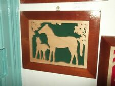 Large Fretwork Picture Horse
