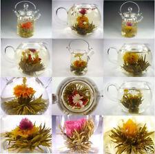 New 1pcs Tied Handmade Blooming Jasmine Flower Flowering Green Tea Ball Herb A