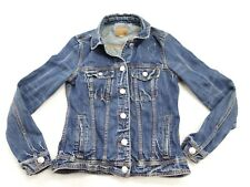 New American Eagle AE AEO #1807 Womens Dark Wash Denim Jacket Coat Size X-Small