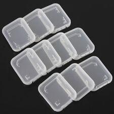 10Pc SD SDHC Memory Card Case Holder Box Storage Hard Plastic Transparent Holder