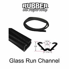 """Universal Window Run Channel - Flexible - 5/8"""" Tall 7/16"""" Wide at Base"""