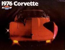 1976 Chevrolet Corvette Sales Brochure Literature Dealer Advertisement Options